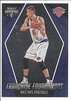 2016-17 Totally Certified Franchise Foundations #13 Kristaps Porzingis