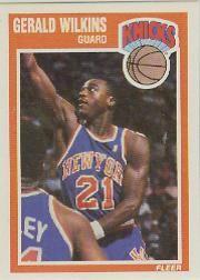 1989-90 Fleer #107A Gerald Wilkins