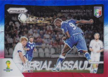 2014 Panini Prizm World Cup Aerial Assault Prizms Blue and Red Wave #4 Mario Balotelli