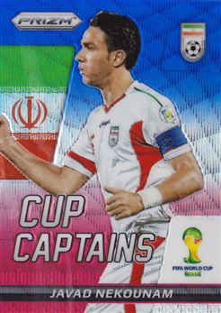 2014 Panini Prizm World Cup Cup Captains Prizms Blue and Red Wave #15 Javad Nekounam