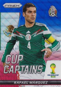 2014 Panini Prizm World Cup Cup Captains Prizms Blue and Red Wave #24 Rafael Marquez