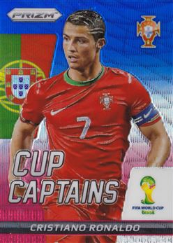 2014 Panini Prizm World Cup Cup Captains Prizms Blue and Red Wave #5 Cristiano Ronaldo
