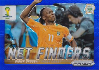 2014 Panini Prizm World Cup Net Finders Prizms Blue #8 Didier Drogba 093/199