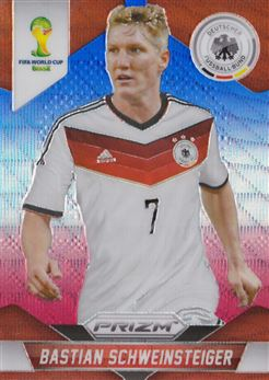 2014 Panini Prizm World Cup Prizms Blue and Red Wave #90 Bastian Schweinsteiger