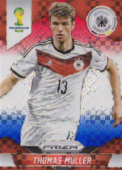 2014 Panini Prizm World Cup Prizms Red White and Blue #93 Thomas Muller