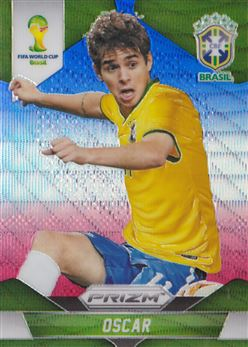 2014 Panini Prizm World Cup Prizms Blue and Red Wave #109 Oscar