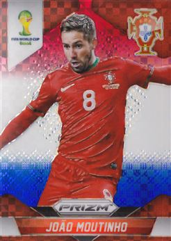 2014 Panini Prizm World Cup Prizms Red White and Blue #158 Joao Moutinho
