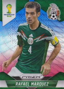 2014 Panini Prizm World Cup Prizms Blue and Red Wave #145 Rafael Marquez
