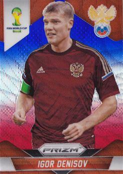 2014 Panini Prizm World Cup Prizms Blue and Red Wave #166 Igor Denisov