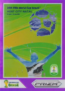 2014 Panini Prizm World Cup World Cup Posters Prizms Purple #7 Natal 37/99