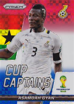 2014 Panini Prizm World Cup Cup Captains Prizms Red White and Blue #2 Asamoah Gyan
