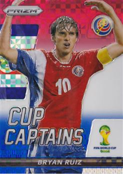 2014 Panini Prizm World Cup Cup Captains Prizms Red White and Blue #3 Bryan Ruiz