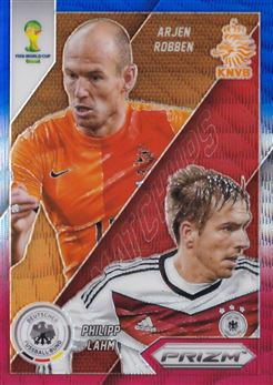 2014 Panini Prizm World Cup World Cup Matchups Prizms Blue and Red Wave #21 Arjen Robben/Philipp Lahm