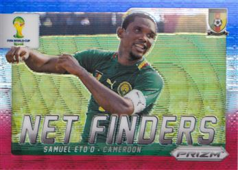 2014 Panini Prizm World Cup Net Finders Prizms Blue and Red Wave #6 Samuel Eto'o