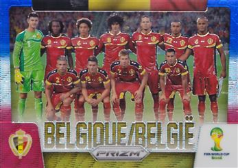 2014 Panini Prizm World Cup Team Photos Prizms Blue and Red Wave #4 Belgium
