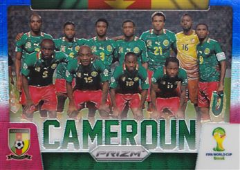 2014 Panini Prizm World Cup Team Photos Prizms Blue and Red Wave #7 Cameroon