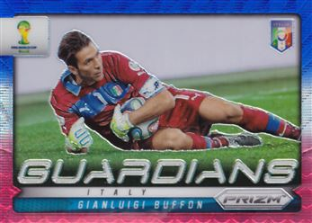 2014 Panini Prizm World Cup Guardians Prizms Blue and Red Wave #15 Gianluigi Buffon