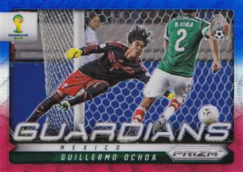 2014 Panini Prizm World Cup Guardians Prizms Blue and Red Wave #17 Guillermo Ochoa