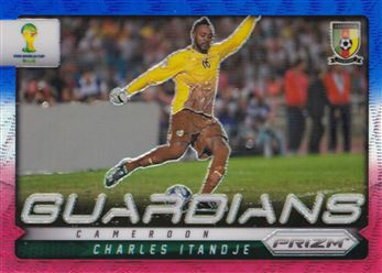 2014 Panini Prizm World Cup Guardians Prizms Blue and Red Wave #6 Charles Itandje