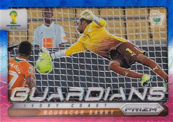 2014 Panini Prizm World Cup Guardians Prizms Blue and Red Wave #9 Boubacar Barry