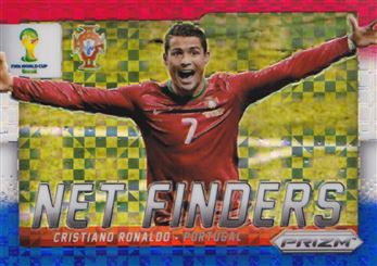 2014 Panini Prizm World Cup Net Finders Prizms Red White and Blue #20 Cristiano Ronaldo