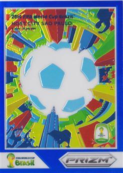 2014 Panini Prizm World Cup World Cup Posters Prizms Blue #12 Sao Paulo 124/199