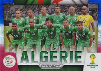 2014 Panini Prizm World Cup Team Photos Prizms Blue and Red Wave #1 Algeria