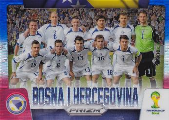 2014 Panini Prizm World Cup Team Photos Prizms Blue and Red Wave #5 Bosnia-Herzegovina