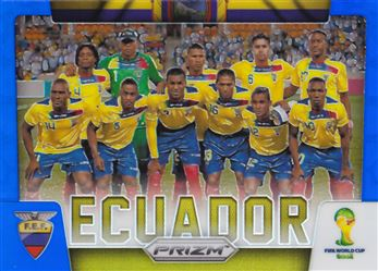 2014 Panini Prizm World Cup Team Photos Prizms Blue #12 Ecuador 062/199