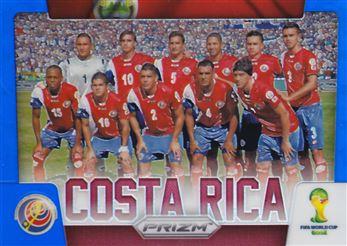 2014 Panini Prizm World Cup Team Photos Prizms Blue #10 Costa Rica 091/199