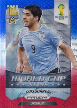 2014 Panini Prizm World Cup World Cup Stars Blue and Red Wave #37 Luis Suarez