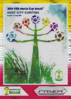 2014 Panini Prizm World Cup World Cup Posters Prizms Yellow and Red Pulsar #4 Curitiba