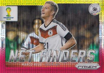 2014 Panini Prizm World Cup Net Finders Prizms Yellow and Red Pulsar #12 Marco Reus