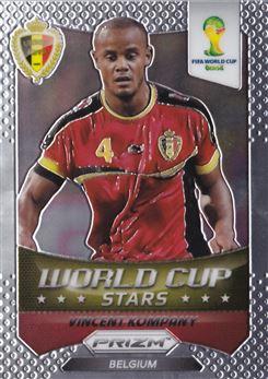 2014 Panini Prizm World Cup World Cup Stars #4 Vincent Kompany