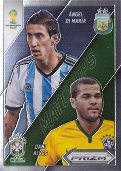 2014 Panini Prizm World Cup World Cup Matchups #28 Angel Di Maria/Dani Alves