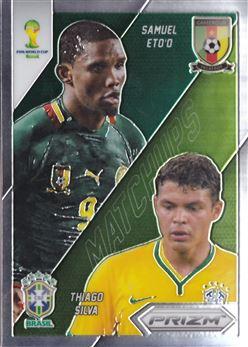 2014 Panini Prizm World Cup World Cup Matchups #1 Samuel Eto'o/Thiago Silva