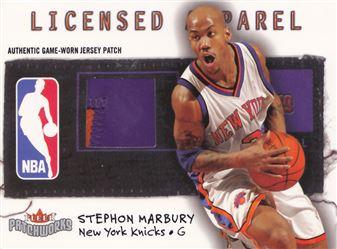 2003-04 Fleer Patchworks Licensed Apparel Team Name #SM Stephon Marbury MEM 036/150 $10