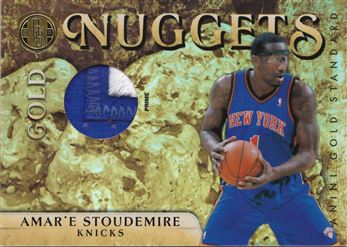 2010-11 Panini Gold Standard Gold Nuggets Materials Prime #11 Amare Stoudemire MEM 03/25 $10