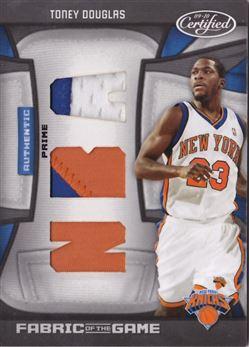 2009-10 Certified Fabric of the Game NBA Die Cuts Prime #196 Toney Douglas MEM 18/25