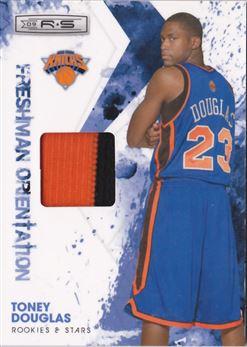 2009-10 Rookies and Stars Dress for Success Materials Prime #27 Toney Douglas MEM 01/50