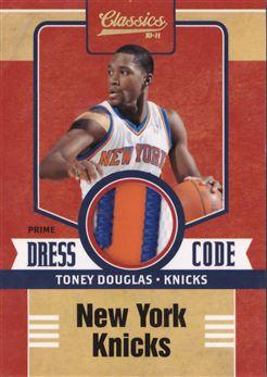 2010-11 Classics Dress Code Jerseys Prime #12 Toney Douglas MEM 23/25