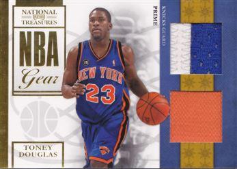 2009-10 Playoff National Treasures NBA Gear Dual Prime #18 Toney Douglas MEM 46/49