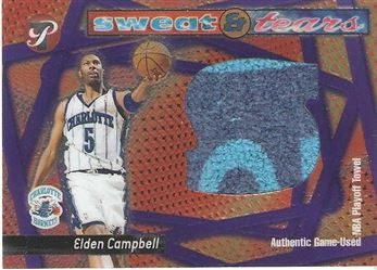 2001-02 Topps Pristine Sweat and Tears #CHEC Elden Campbell
