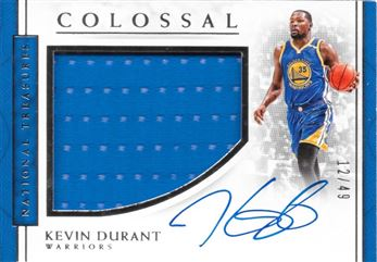 2016-17 National Treasures Colossal Kevin Durant