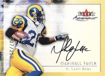 2000 Fleer Autographs Silver Marshall Faulk