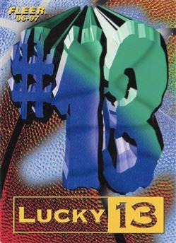 1996-97 Fleer Kobe Bryant Lucky 13 RC Redemption