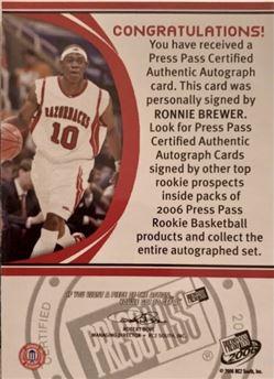 044 Press Pass Autographs 11 Gold on Red Halfcourt