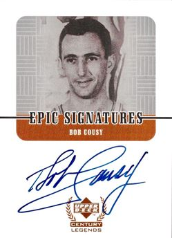 1999 Century Legends BC Bob Cousy Epic Signatures