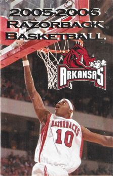 2005-06 Arkansas Razorbacks pocket schedule