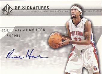 2003-04 SP Authentic Signatures #RHA Richard Hamilton